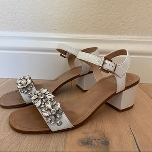 Dune London Mahala White Sandals - 8